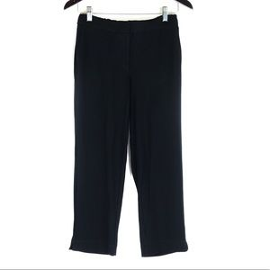 J Jill Wearever Black Knit Trouser Pants